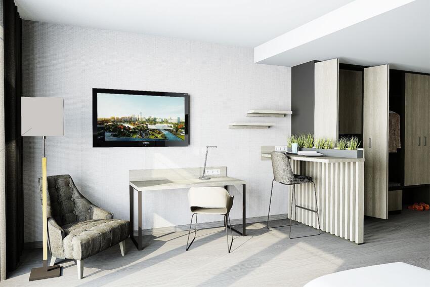 Superior Zimmer Schreibtisch und Essbereich